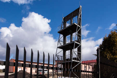 State Fire Service in CheÅ'm in eastern Poland - a tower for drying fire hoses 版權商用圖片