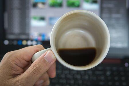 coffee bottom cup Stock Photo