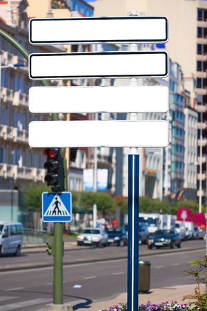 adboard: Blank billboard on the street