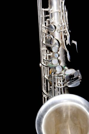 A close up shot of a tenor sax  Stock Photo