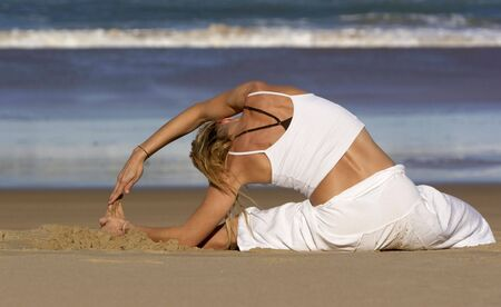 yoga meditation pose Stock Photo