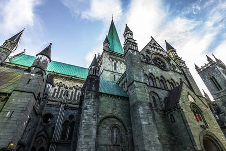 greatness: Greatness of the cathedral of Nidaros in Trondheim, Norway