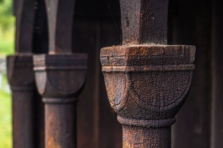 wood staves: Column of Urnes Stave Church, Norway