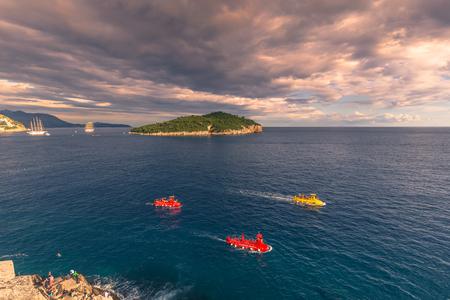tour boats: Tourist tour boats in Dubrovnik, Croatia