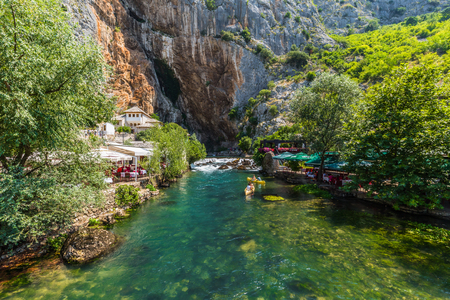 Water by the dervish house of Blagaj, Croatia