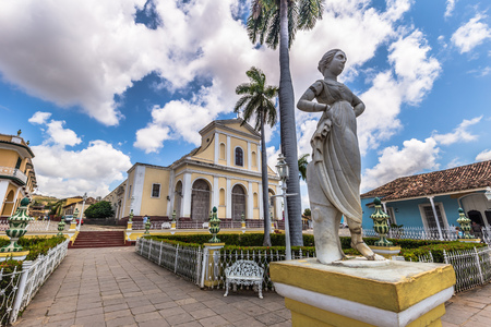 In the central square of Trinidad, Cuba