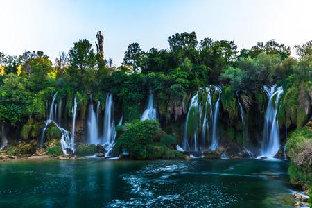 Wall of waterfalls in Kravice, Bosnia