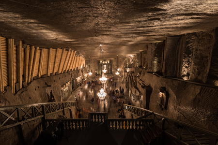 Underground cathedral in the Wieliczka salt mines, Poland