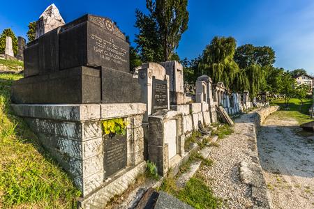 jewish town: Jeweish Graveyard in Sarajevo, Bosnia Editorial