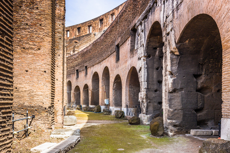 archways: May 28, 2016: The archways inside the Colosseum, Rome