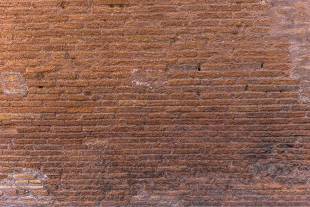 Travertine wall texture of the Colosseum, Rome