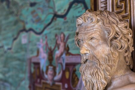 May 30, 2016: Statue of an old man in the Vatican Museum, Vatican City