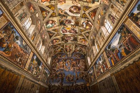 30 mai 2016: Plafond de la chapelle Sixtine au musée du Vatican, Cité du Vatican Banque d'images - 67113427