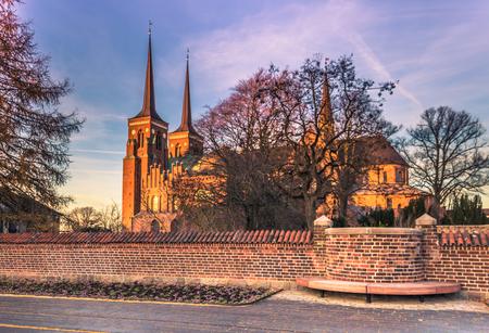 December 04, 2016: Cathedral of Saint Luke in Roskilde, Denmark