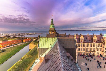 December 03, 2016: Rooftops of Kronborg castle, Denmark