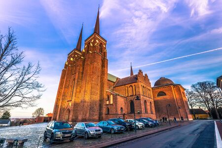 December 04, 2016: The Cathedral of Saint Luke in Roskilde, Denmark Editorial