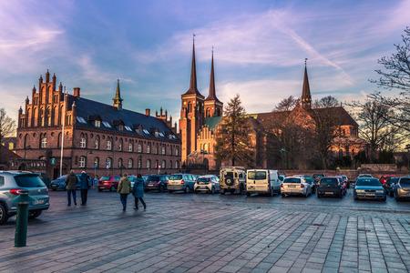 December 04, 2016: The center of Roskilde, Denmark