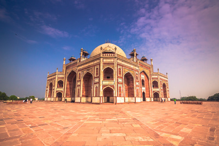 worl: October 29, 2014: Detail of the Humayun Tomb in New Delhi, India