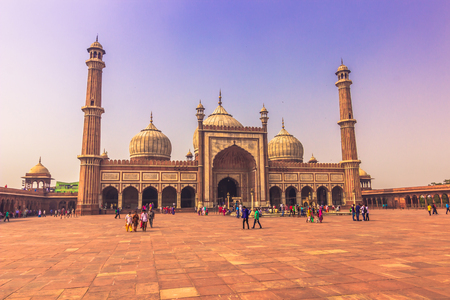 October 28, 2014: The Jama Masjid Mosque in New Delhi, India