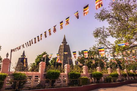 bodhgaya: October 30, 2014: The Mahadobhi temple in Bodhgaya, India