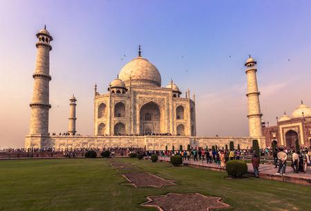islamic wonderful: November 02, 2014: Entrance to the Taj Mahal in Agra, India