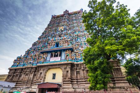 November 13, 2014: The Meenakshi Amman Hindu temple in Madurai, India