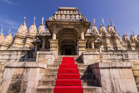 jainism: November 08, 2014: Entrance to the Jain temple of Ranakpur, India