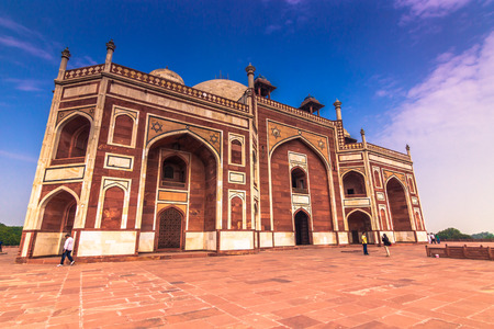 worl: October 29, 2014: Side view of the Humayuns Tomb in New Delhi, India Editorial