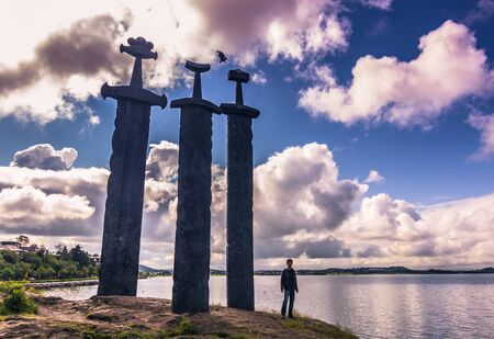 July 20, 2015: Sverd I Fjell Viking Monument near Stavanger, Norway