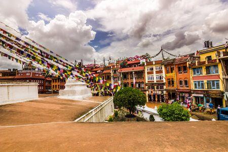 August 18, 2014 - Boudhanath Temple in Kathmandu, Nepal Editorial