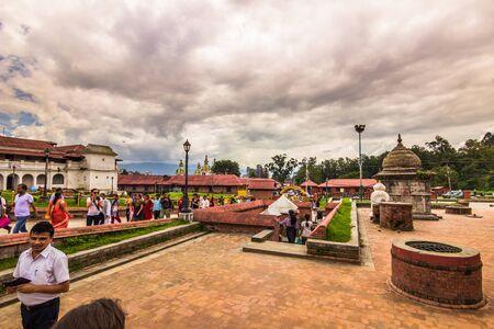August 18, 2014 - People in Pashupatinath Temple in Kathmandu, Nepal