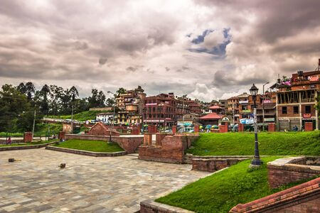 August 18, 2014 - Garden of Pashupatinath temple in Kathmandu, Nepal