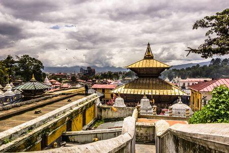 August 18, 2014 - Pashupatinath Temple in Kathmandu, Nepal Stock Photo