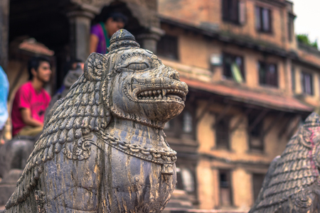 August 18, 2014 - Statue of monkey in Patan, Nepal