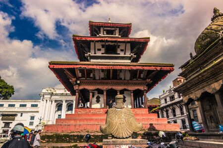 August 19, 2014 - Temple in the Royal Square of Kathmandu, Nepal