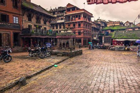 August 18, 2014 - Square in Bhaktapur, Nepal