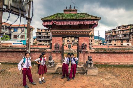 August 18, 2014 - Children in Bhaktapur, Nepal