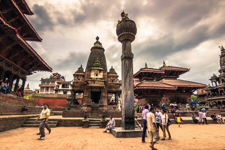August 18, 2014 - Royal square of Patan, Nepal