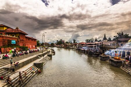 August 18, 2014 - Bagmati river in Kathmandu, Nepal