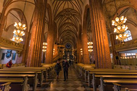 January 21, 2017: Panorama of the interior of the Cathedral of Stockholm, Sweden Editorial