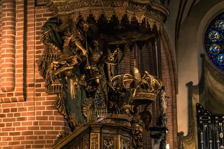 January 21, 2017: Detail of the decoration of the Cathedral of Stockholm, Sweden Editorial