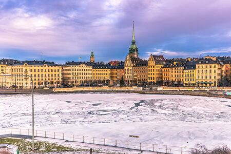 January 21, 2017: Panorama of the old town of Stockholm, Sweden