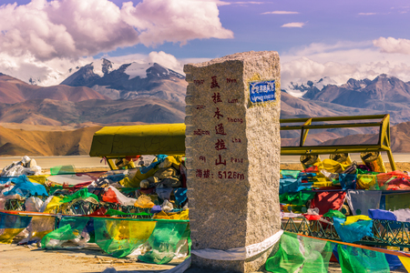 misterious: August 16, 2014 - Altitude marker in the Himalayas, Tibet