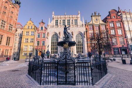 January 28, 2017: Long Market Square of Gdansk, Poland