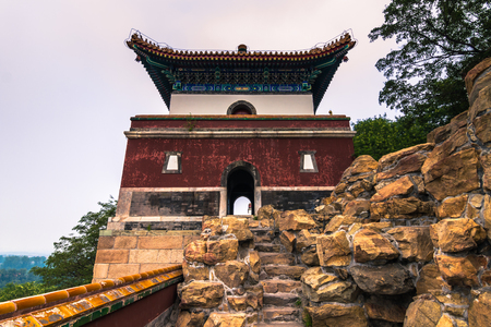 lejano oriente: Beijing, China - July 18, 2014: Summer Palace Editorial