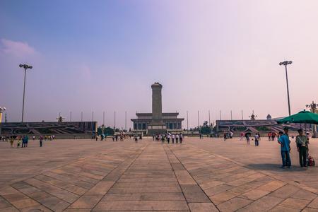 Beijing, China - July 20, 2014: Tiananmen square
