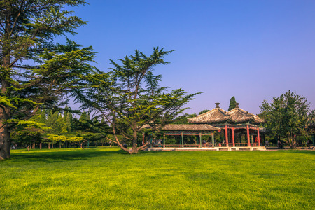 Beijing, China - July 20, 2014: Gardens of the Temple of Heaven complex Editorial