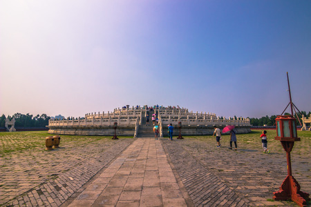 Beijing, China - July 20, 2014: The Temple of Heaven complex
