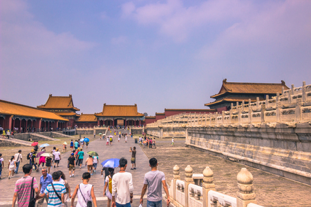 Beijing, China - July 20, 2014: The Forbidden City