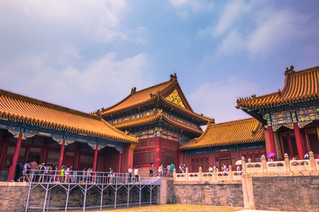 Beijing, China - July 20, 2014: Palace of the Forbidden City Editorial